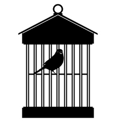 Cage with birds-3 vector