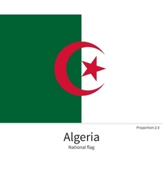 National flag of algeria with correct proportions vector