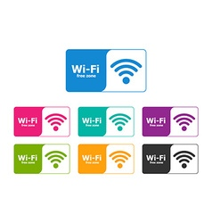 Set of colorful wifi icons for business vector