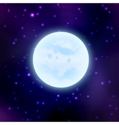 Moon on space background vector