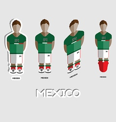 Mexico soccer team sportswear template vector