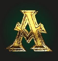 a golden letter vector image vector image