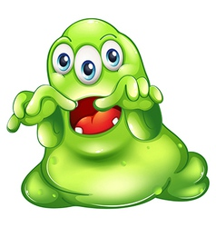 A green monster in horror vector image vector image