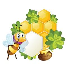 A unique border with a bee vector image vector image