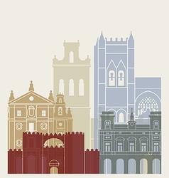 Avila skyline poster vector