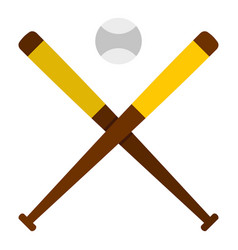 Baseball bats and baseball icon isolated vector