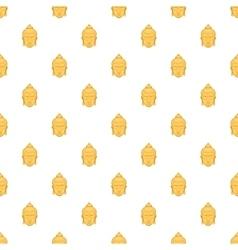 Buddha statue pattern cartoon style vector