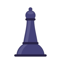chess bishop isolated icon vector image