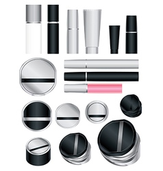 cosmetics set 5 vector image vector image