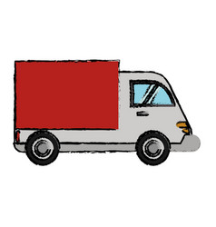 Delivery truck cargo transport vector