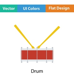 Drum toy icon vector image vector image