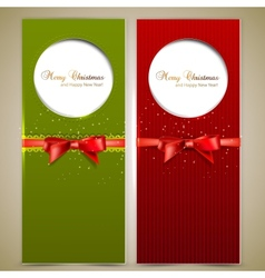 Elegant Christmas Invitation Cards Template vector image vector image