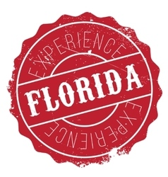 Florida stamp rubber grunge vector