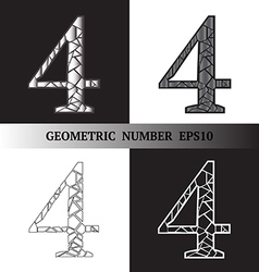 Four Geometric vector image