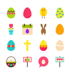 happy easter objects vector image