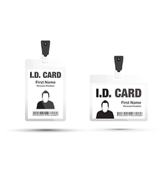 Id card black vector
