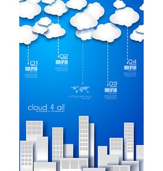 Infographic Layout for modern business data vector image