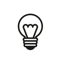 lamp sign icon on white background vector image vector image