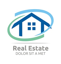 real estate shape home construction company vector image vector image