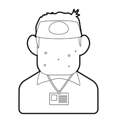 Salesman icon outline style vector