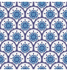 Seamless pattern of circles vector image