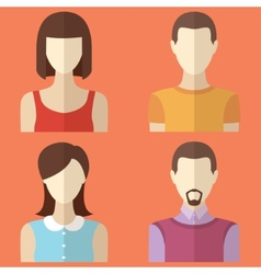 Set of male and female characters Man woman avatar vector image vector image