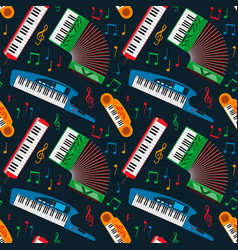 Synthesizer piano musical keyboard equipment vector