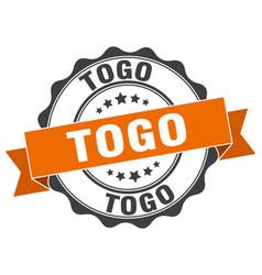 Togo round ribbon seal vector