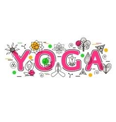 Yoga banner template for yoga studio yoga website vector