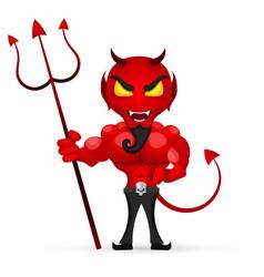 The imp of Halloween vector image