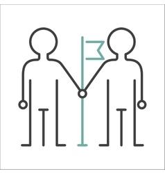 Community team friendship teamwork social group vector
