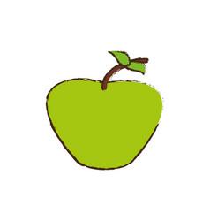Green apple fruit diet vector