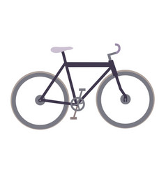 White background with sport bicycle vector