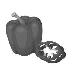 bell pepperbbq single icon in monochrome style vector image