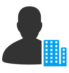 city architect flat icon vector image