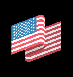 Usa flag isolated america ribbon banner state vector