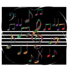 Abstract music note vector