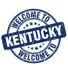 Welcome to kentucky blue round vintage stamp vector