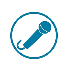 Microphone icon isolated vector