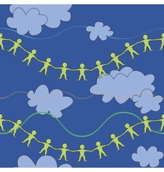 Friendship in sky pattern vector