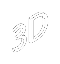 3d icon isometric 3d style vector image