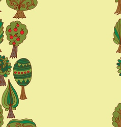 Seamless hand-drawn border pattern with doodle vector
