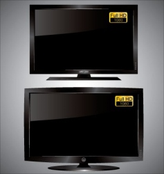 Led lcd tv vector