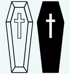 Black coffin vector