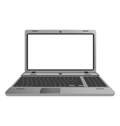 Silver laptop vector