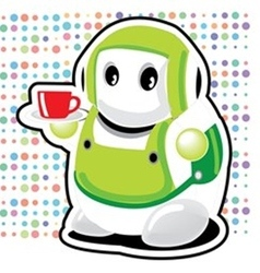 Coffee robot vector