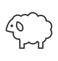 Sheep icon cute animal design graphic vector
