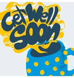 Get Well Soon Decorative Card vector image