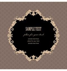Baroque frame vintage vector image vector image