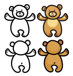 bear cartoon vector image vector image